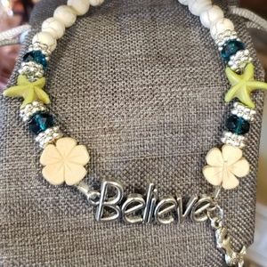 "Believe Anklet 10"" length wit mermaid charm"